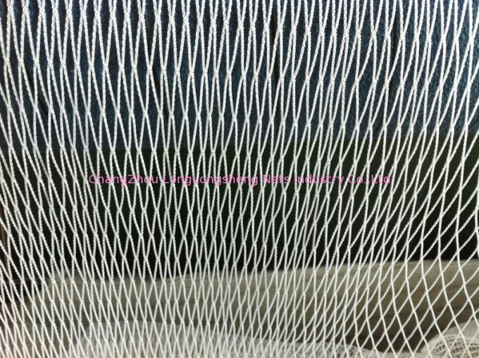Commercial Fishing Nets / Durable Knotless Nylon Netting For Sea