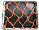 Orange PES Yarn HDPE Fishing Nets 100mm to 700mm For Fish Pond / Drag Net