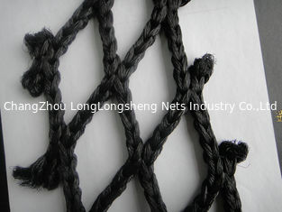 China Black Super PE HDPE Fishing Nets / Fish Catching Net , Single / Double knotted supplier