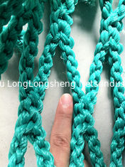China Green Sea Rope Commercial HDPE Fishing Nets , Knotless Fishing Gill Nets supplier