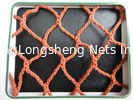 China Orange PES Yarn HDPE Fishing Nets 100mm to 700mm For Fish Pond / Drag Net supplier