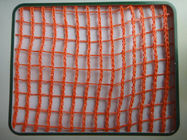 HDPE Agricultural Crop Plant Protection Netting , Red Uv Treated Anti Wind Net
