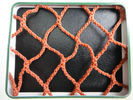 China Orange PES Yarn HDPE Fishing Nets 100mm to 700mm For Fish Pond / Drag Net factory