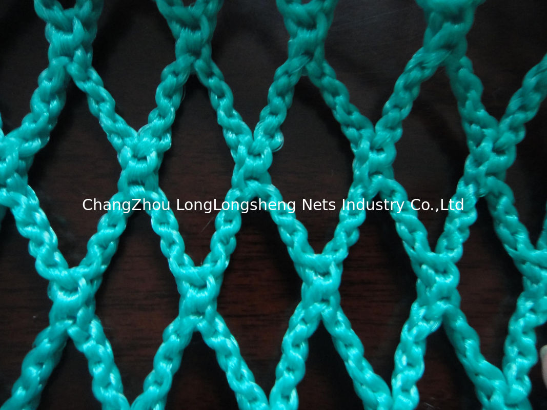 Green hdpe decorative fishing net durable knotless pe for Fish netting for sale